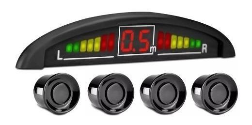 Sensor De Estacionamento Ré Preto Display Led Techone