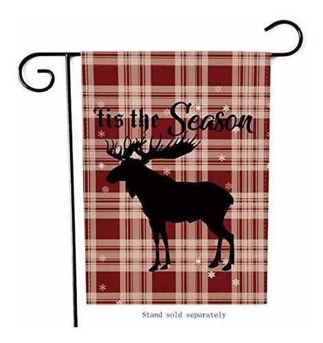 Imagen 1 de 7 de Artofy Tis The Season Bandera Del Jardin De Navidad, Decora