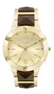 Relógio Euro Feminino Dourado Eu2035ylz/4d