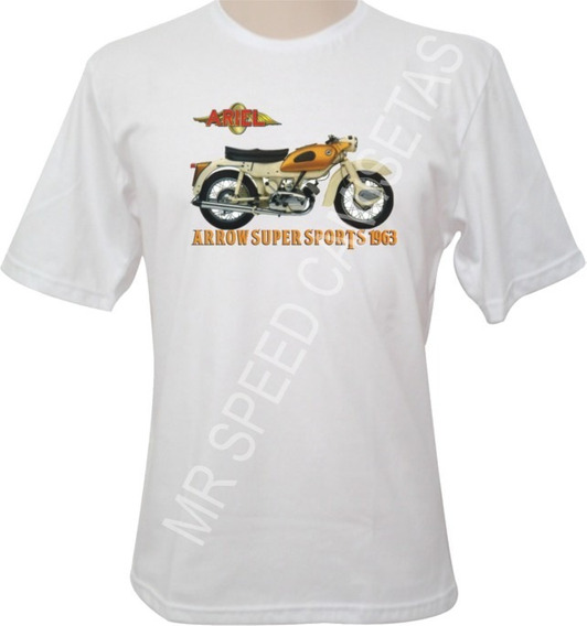 Camiseta Motocicleta Ariel Arrow Super Sports 1963 Amarela