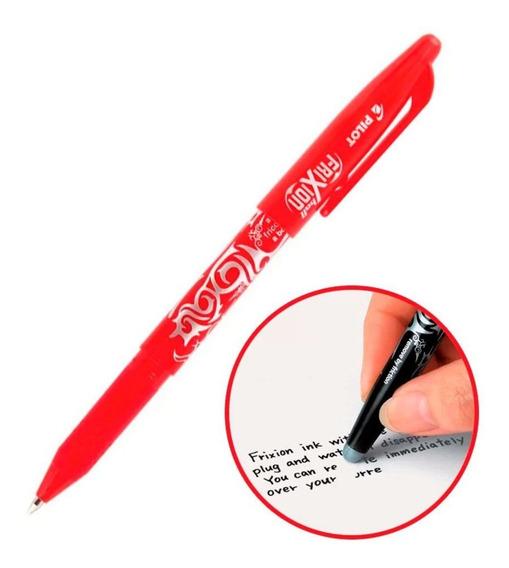Caneta Apagável Frixion 07 Pilot Vermelha Escreve Apaga