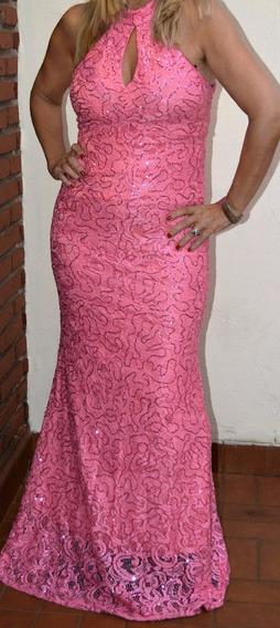Vestido De Fiesta Largo Elastizado Forrado Talle Xl