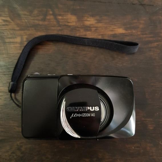 Câmera Analógica 35mm Olympus Mju Zoom 140 - Perfeita