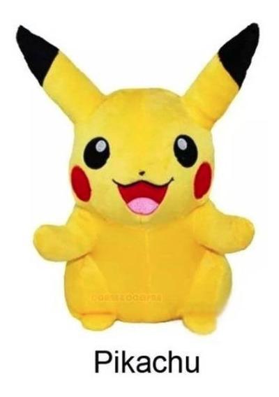 Pikachu Pelúcia Com Musica De Abertura Pokemon Go 20 Cm