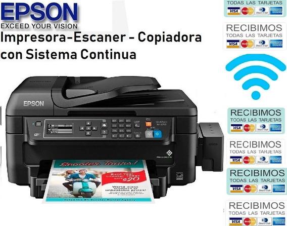 Impresora Epson Wf 2750 Sin Chip Tipo Original Et4550