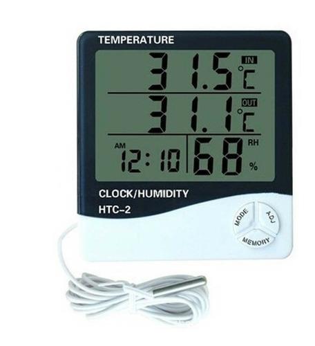 Reloj Termohigrometro Digital Sonda Temperatura Humedad Htc2