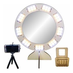 Ring Light Com Espelho Removível Led Selfie Maquiagem Branco