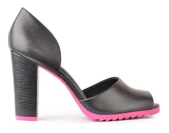 Zapatos De Cuero De Mujer Taco Alto Soledad - Ferraro -