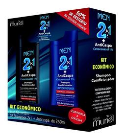 Kit Shampoo Men Anticaspa + Shampoo Limpeza Profunda 250ml