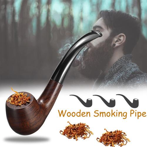 Ébano De Madera Hombre De Alta Gama Fumar Pipa Tabaco Cigarr