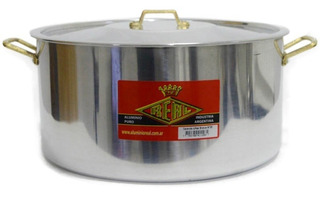 Cacerola De Aluminio Nº28 - 8,3 Lts Asas De Bronce