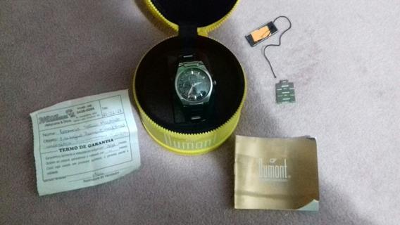 Relógio Dumont Masculino Pulseira Em Aço