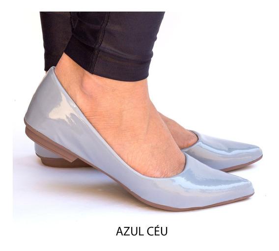 Promoção Sapatilha Feminina Verniz Bico Fino Confort Rf.222