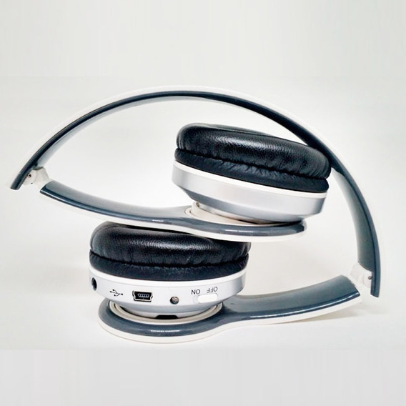 Headphone Mp3 Sem Fio Usb C/entrada P/micro Sd, Fm E Auxilar