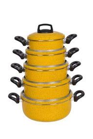 Conjunto Jogo Panelas Caçarolas 5 Pçs Royale 2,00mm Color