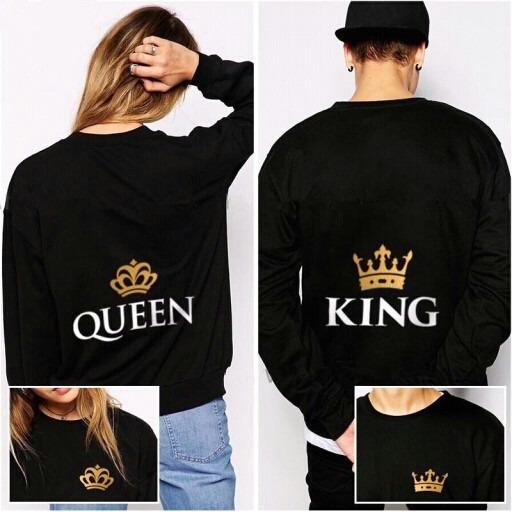 Sueteres Personalizados Enamorados Amor Parejas King Queen