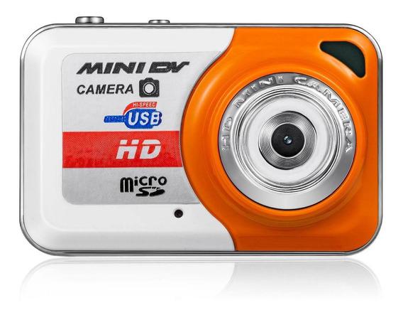Mini Camcorder Dv Hd Camera Laranja
