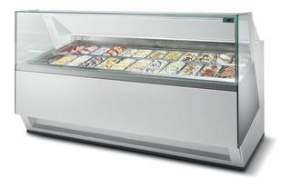 Vitrine Expositora Sorvetes/gelatos Isa Diva 24 Sabores