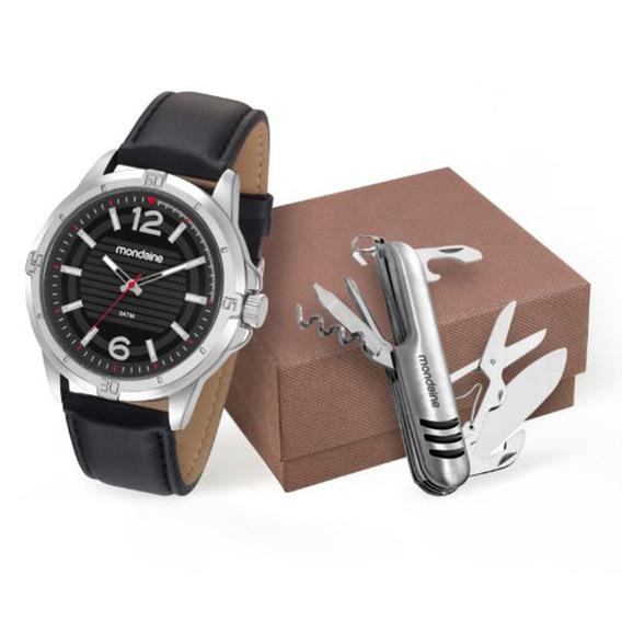 Kit Relógio Mondaine Masculino 83406g0mvnh1k1
