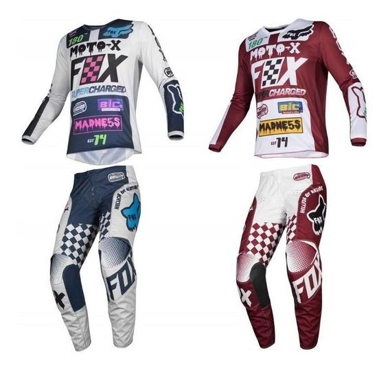 Conjunto Fox 180 Czar 2019 Motocross Enduro Solomototeam