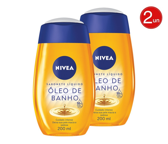 Nivea Natural Oil Para Banho 55% Oleos Naturais 200ml 02un