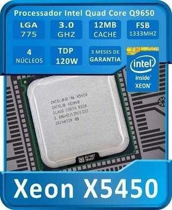 Processador Intel Xeon X5450 3.0 Ghz Lga775 = Core2quaq9650