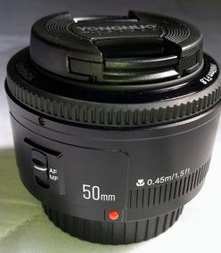 Lente 50 Mm F/1.8 Auto Foco Yongnuo P/ Canon