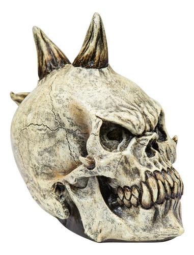 Imagen 1 de 4 de Decorativo De Látex Cráneo Punk Calavera Skull Halloween