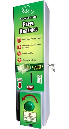 Dispensador De Papel Higiénico Con Monedero De $500
