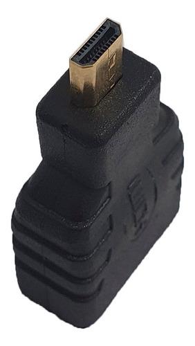 Imagem 1 de 5 de Adaptador Conector Hdmi Fêmea Para Micro Hdmi Macho