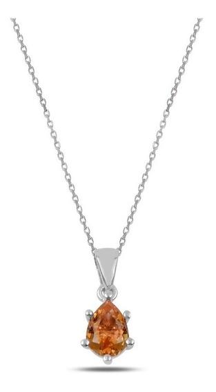 Collar Plata Turca Con Piedra Zultanite (sultanita) Gota