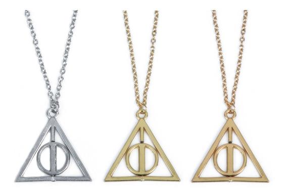 Collar Reliquias De La Muerte Harry Potter Joyería