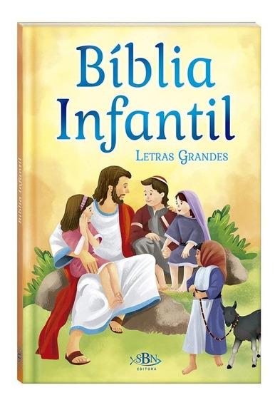 Biblia Infantil - Letras Grandes - Sbn -capa Dura