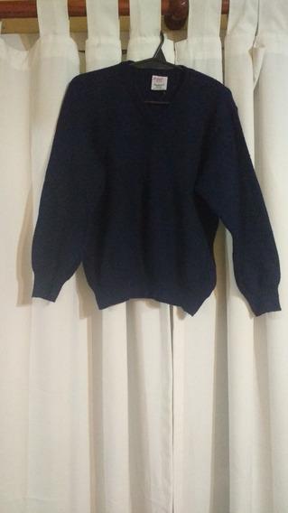 Sweater Dralon Azul Escote V T. 10
