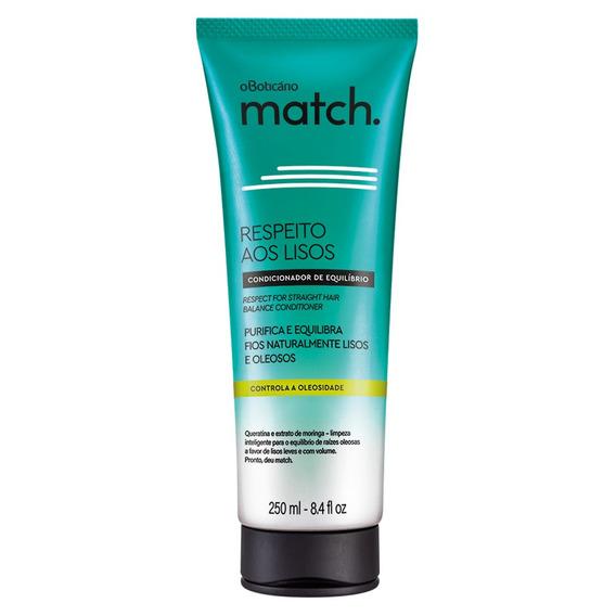 Match Respeito Aos Lisos Condicionador Cabelos Oleosos, 250m
