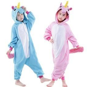 Unicórnio Pijama Macacão Kigurumi C/ Asa