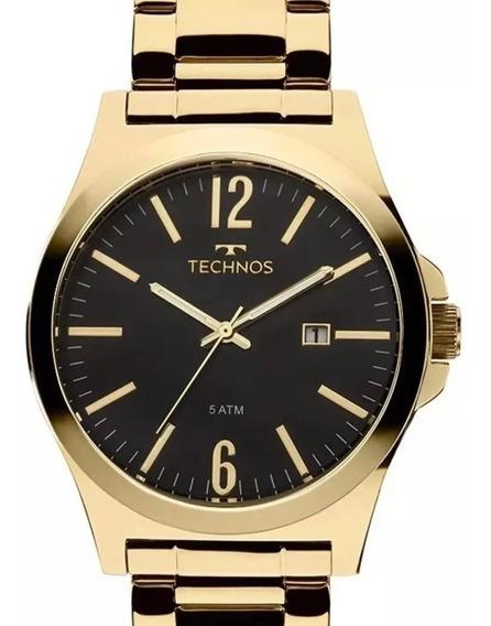 Relógio Technos Masculino Dourado Steel Analógico 2115lan/4p