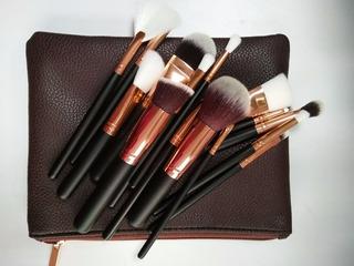 3 Set De 15 Brochas Para Maquillaje Y Cosmetiquera