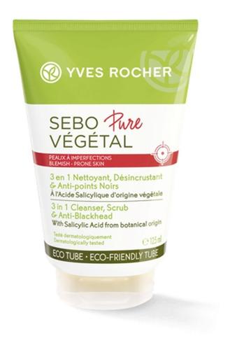 Sebo Pure Vegetal Limpiador 3 En 1 Anti-acne Yves Rocher