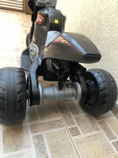 Mini Moto Elétrica Infantil Max Turbo Preta 6v Magic Toys
