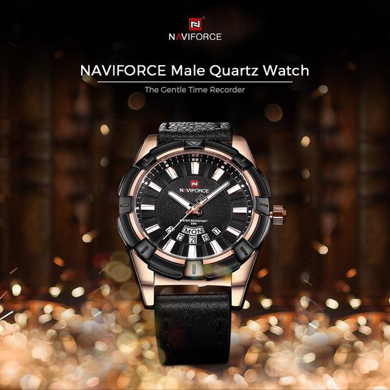 Relógio Naviforce Importado Original Modelo 9118 Black