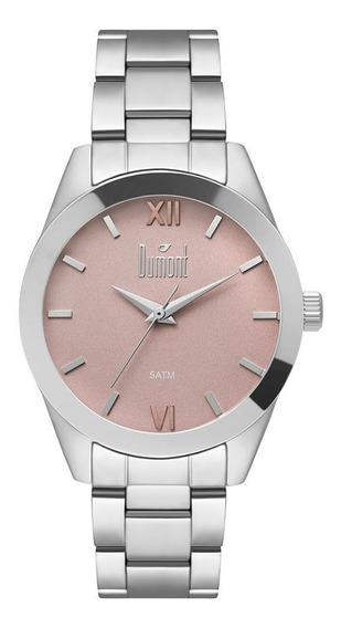 Relógio Dumont Feminino Casual Prateado Du2036lvc/3t