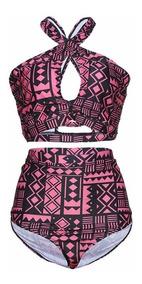 Biquíni Plus Size Top Cropped Cintura Alta - Lançamento Y21