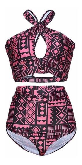 Biquíni Plus Size Top Cropped Cintura Alta - Lançamento