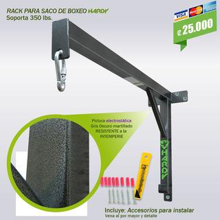 Soporte Para Saco De Boxeo Hardy ( Rack ) Con Accesorios