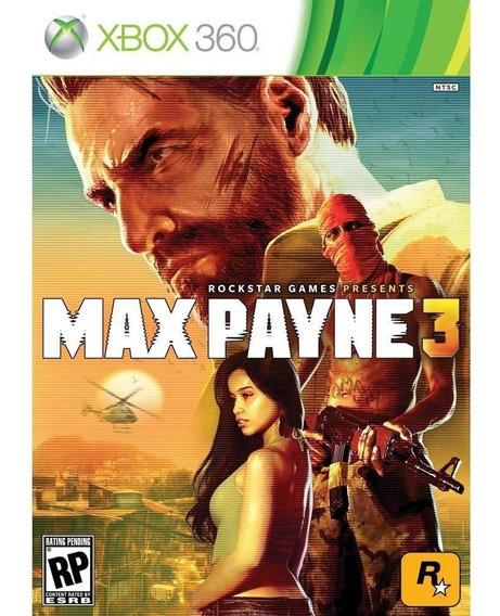 Max Payne 3 Xbox 360 - Midia Digital