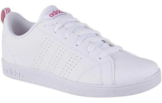 Tenis adidas Para Dama Advantage Blanco Fucsia Envío Gratis