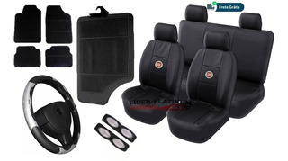 Kit Capas Couro Banco Carro Tapetes Volante Fiat Punto 1.8 16v Essence 132 Cv