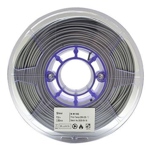 Imagen 1 de 4 de Filamento Pla 1.75 Silver Colorplus