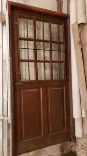 Puerta De Algarrobo ,reja Y Vidrios